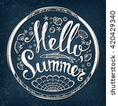 hello summer party poster with... | Shutterstock .eps vector #420429340