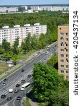 Small photo of Top view of Solnechnaya alley in Zelenograd Administrative District, Moscow