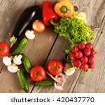 vegetables . fresh bio... | Shutterstock . vector #420437770