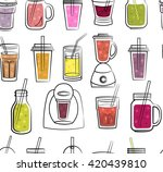 color smoothies seamless... | Shutterstock .eps vector #420439810