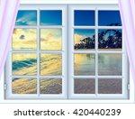 beautiful sunset on the sea... | Shutterstock . vector #420440239
