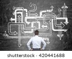 different direction concept... | Shutterstock . vector #420441688