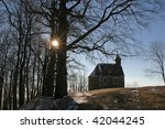 beautiful small rural church in ... | Shutterstock . vector #42044245