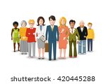 international group of people ... | Shutterstock . vector #420445288