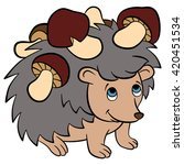 cartoon wild animals for kids.... | Shutterstock .eps vector #420451534