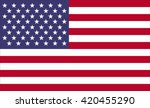 flag of united states of... | Shutterstock .eps vector #420455290