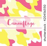 camouflage background pattern.... | Shutterstock .eps vector #420456550