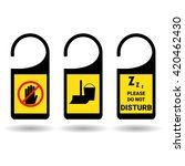 do not disturb sign set .... | Shutterstock .eps vector #420462430
