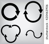 arrow icons | Shutterstock .eps vector #420463906