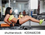 athletic young woman at the gym ...   Shutterstock . vector #420468238