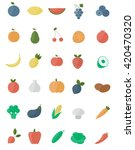 set of flat fruits and... | Shutterstock .eps vector #420470320