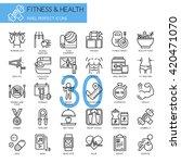 fitness   health    thin line... | Shutterstock .eps vector #420471070