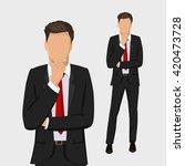 Businessman Standing  Thinking...