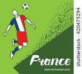 france. national football team... | Shutterstock .eps vector #420475294