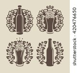 set banners on topic with beer... | Shutterstock .eps vector #420476650