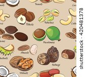 collection of different nuts... | Shutterstock .eps vector #420481378