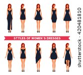 styles of women s elegance... | Shutterstock .eps vector #420481810