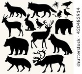 forest animals images vector... | Shutterstock .eps vector #420482914