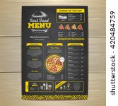 vintage chalk drawing fast food ... | Shutterstock .eps vector #420484759