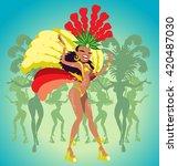 samba dancers. vector...   Shutterstock .eps vector #420487030