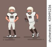 american football. player... | Shutterstock .eps vector #420491236
