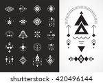 esoteric  alchemy  boho ... | Shutterstock .eps vector #420496144