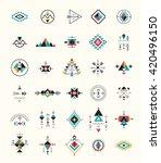 esoteric  alchemy  boho ... | Shutterstock .eps vector #420496150