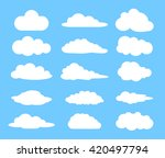 cloud logo element. vector... | Shutterstock .eps vector #420497794