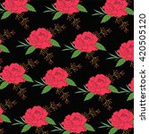 roses pattern | Shutterstock .eps vector #420505120