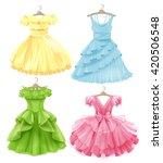 set of festive dresses for... | Shutterstock .eps vector #420506548