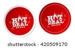 hot deals stickers | Shutterstock .eps vector #420509170