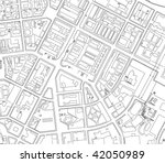 part of urban plan of a city | Shutterstock .eps vector #42050989