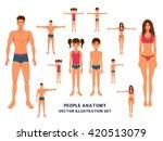 anatomy full length people...   Shutterstock .eps vector #420513079