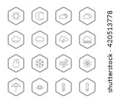 gray line weather icon set with ...