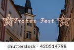 merry christmas banner on... | Shutterstock . vector #420514798