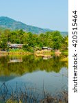 country view in thai  thailand. | Shutterstock . vector #420515464