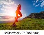 action athletic of a girl... | Shutterstock . vector #420517804