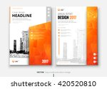 cover design for annual report  ... | Shutterstock .eps vector #420520810