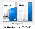 blue corporate business annual... | Shutterstock .eps vector #420520819