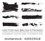 set of vector black pen ink... | Shutterstock .eps vector #420525418