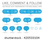 vector like  follower  comment... | Shutterstock .eps vector #420533104