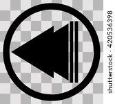 flat black singl icon play back ...