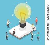 isometric light bulb over an... | Shutterstock .eps vector #420538390