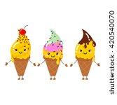 set of vector illustration of... | Shutterstock .eps vector #420540070