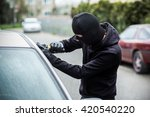 car thief trying to break into... | Shutterstock . vector #420540220