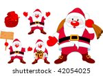 a set of cute santa s... | Shutterstock .eps vector #42054025