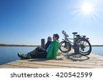 Senior Couple With Their Bikes  ...
