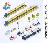 isometric city urban elements   ... | Shutterstock .eps vector #420543793