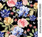 beautiful colorful watercolor... | Shutterstock . vector #420543880
