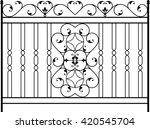 wrought iron gate  door  fence  ... | Shutterstock .eps vector #420545704